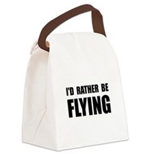 Rather Be Flying Black.png Canvas Lunch Bag