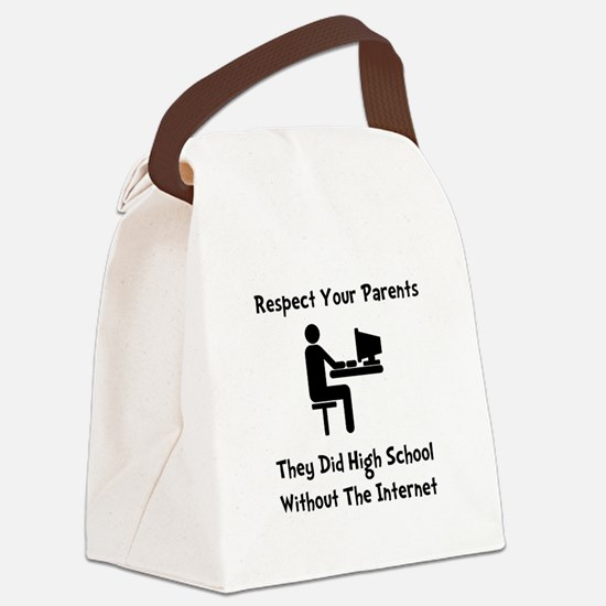 Respect Parents Internet Black.png Canvas Lunch Ba