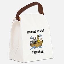 Noah Ark Black.png Canvas Lunch Bag