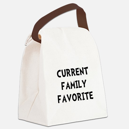 Current Family Favorite Black.png Canvas Lunch Bag
