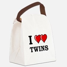 I Heart Twins Black.png Canvas Lunch Bag