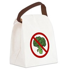 No Broccoli Red Only SOT.png Canvas Lunch Bag