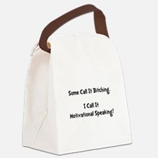 Motivational Bitch Black.png Canvas Lunch Bag