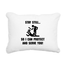 Protect Serve Black.png Rectangular Canvas Pillow