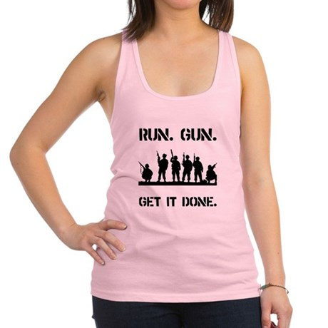 Military Get It Done Black.png Racerback Tank Top
