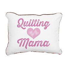Quilting Mama Rectangular Canvas Pillow
