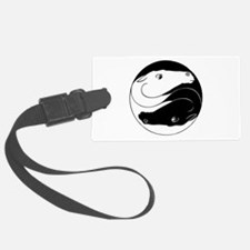 Horse Yin Yang Black ONLY.png Luggage Tag