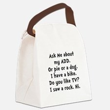 My ADD Black.png Canvas Lunch Bag