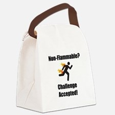 Non Flammable Black.png Canvas Lunch Bag