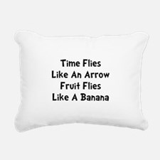 Fruit Flies Black.png Rectangular Canvas Pillow