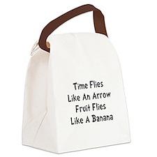 Fruit Flies Black.png Canvas Lunch Bag