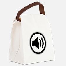 Audio Speaker Black.png Canvas Lunch Bag
