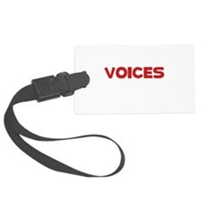 Voices In Head Black.png Luggage Tag