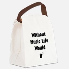 Music B Flat Black.png Canvas Lunch Bag