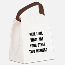 Here I Am Black.png Canvas Lunch Bag