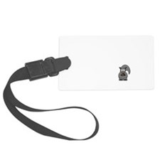Short Attention Black.png Luggage Tag