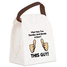 This Guy Beer Black.png Canvas Lunch Bag