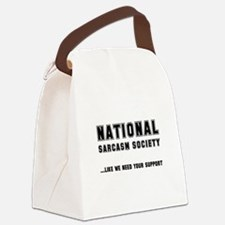 Sarcasim Society Black.png Canvas Lunch Bag