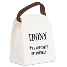 Irony Black.png Canvas Lunch Bag