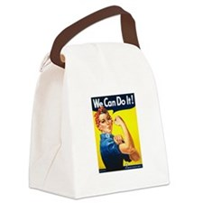 Rosie The Riveter Yellow.png Canvas Lunch Bag