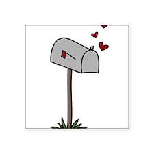 """Love Letters Square Sticker 3"""" x 3"""""""