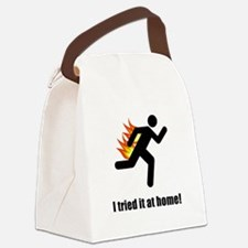 I Tried It At Home Black SOT.png Canvas Lunch Bag