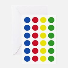 Twister Dots Greeting Card