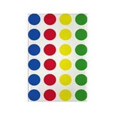 Twister Dots Rectangle Magnet