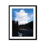 Eel River with Clouds Framed Panel Print