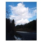 Eel River with Clouds Small Poster