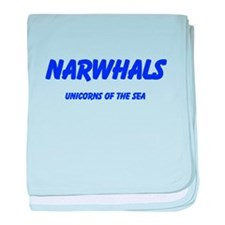 Narwhals baby blanket