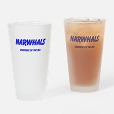 Narwhals Drinking Glass