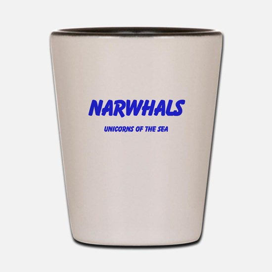 Narwhals Shot Glass