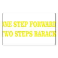 ONE STEP FORWARD, TWO STEPS BARACK Decal