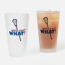 Lacrosse Stick Blue Drinking Glass