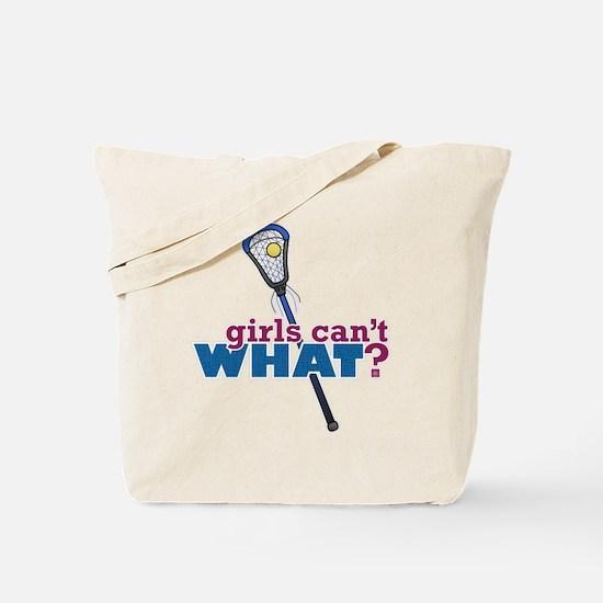 Lacrosse Stick Blue Tote Bag