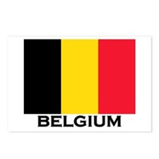 Belgium Flag Merchandise Postcards (Package of 8)
