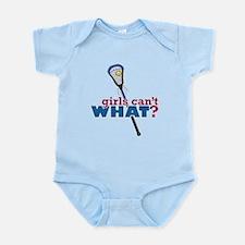 Lacrosse Stick Blue Infant Bodysuit