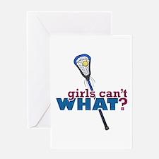 Lacrosse Stick Blue Greeting Card