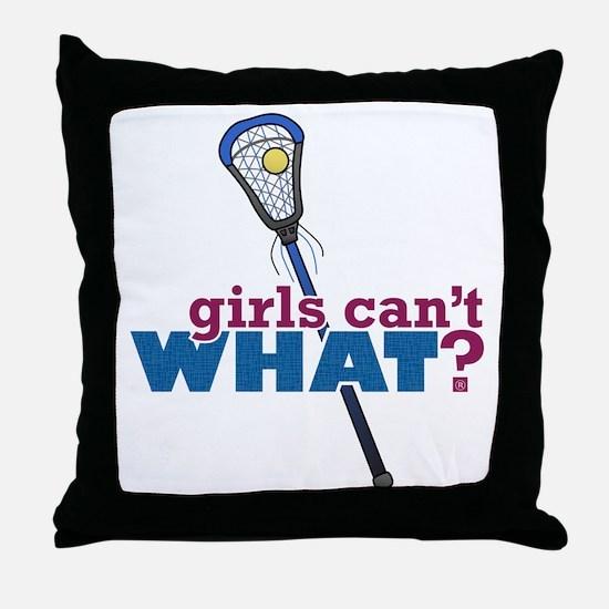 Lacrosse Stick Blue Throw Pillow