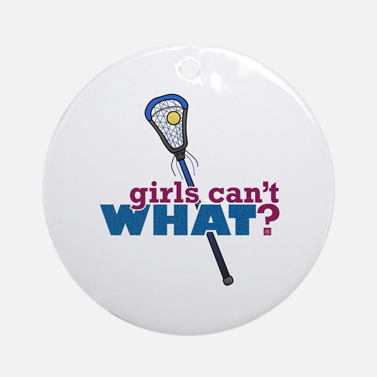 Lacrosse Stick Blue Ornament (Round)