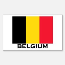 Belgium Flag Merchandise Rectangle Decal