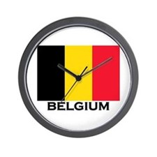 Belgium Flag Merchandise Wall Clock