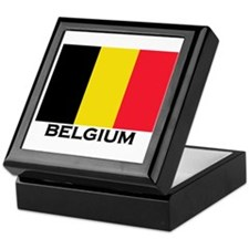 Belgium Flag Merchandise Keepsake Box