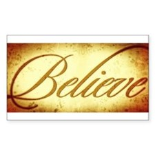 Believe vintage print Decal