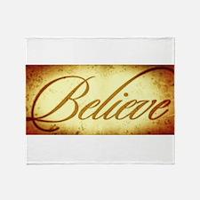 Believe vintage print Throw Blanket