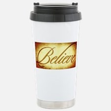 Believe vintage print Travel Mug