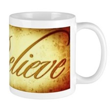 Believe vintage print Mug