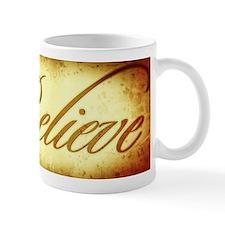 Believe vintage print Small Mug