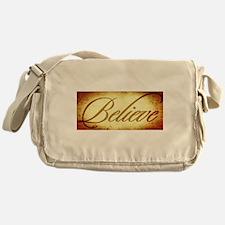 Believe vintage print Messenger Bag